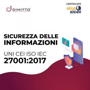 CORSO SICUREZZA DELLE INFORMAZIONI - ISO 27001